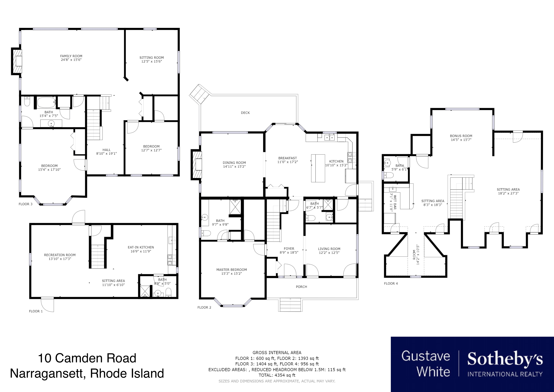 Single Family Homes for Sale at Bonnet Shores 10 Camden Road Narragansett, Rhode Island 02882 United States