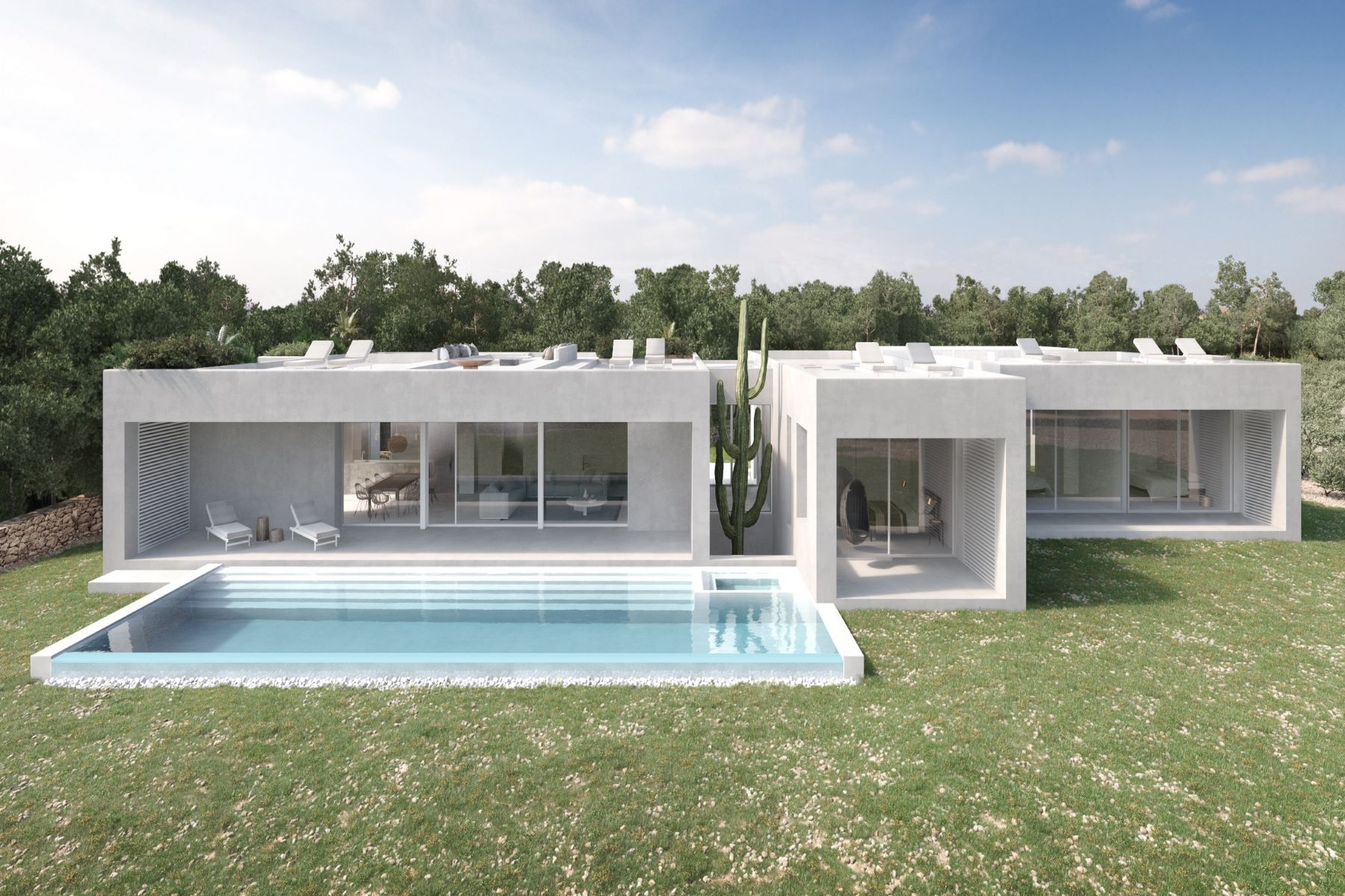 Single Family Homes for Sale at Modern Waterfront Home under construction - Direct Sea View Cap de Barbarie Formentera, Balearic Islands 07860 Spain