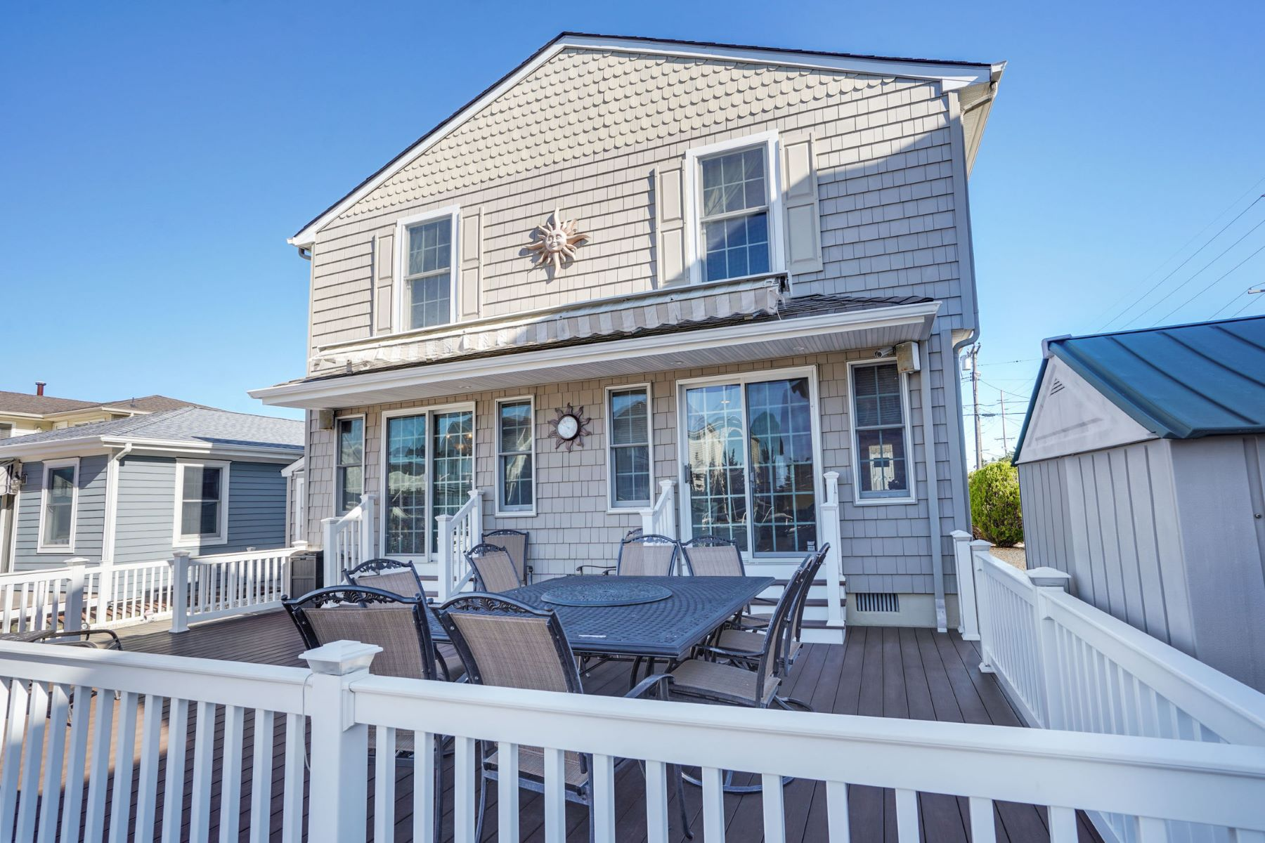 Single Family Homes للـ Sale في Recently Renovated Waterfront Home Ideally Situated On Lagoon 203 Hayes Court, Lavallette, New Jersey 08735 United States