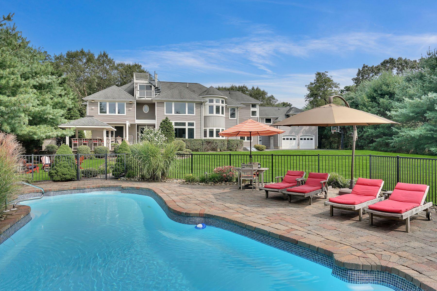 Single Family Homes pour l Vente à Stunning Custom Home 2511 Ramshorn Drive, Wall, New Jersey 08736 États-Unis