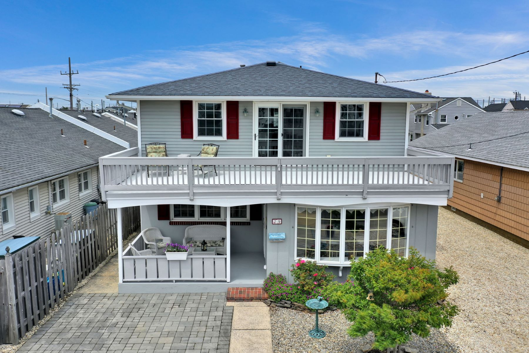 Single Family Homes for Sale at Classic Beach Block Shore Colonial Home 29 Westmont Avenue, Lavallette, New Jersey 08735 United States
