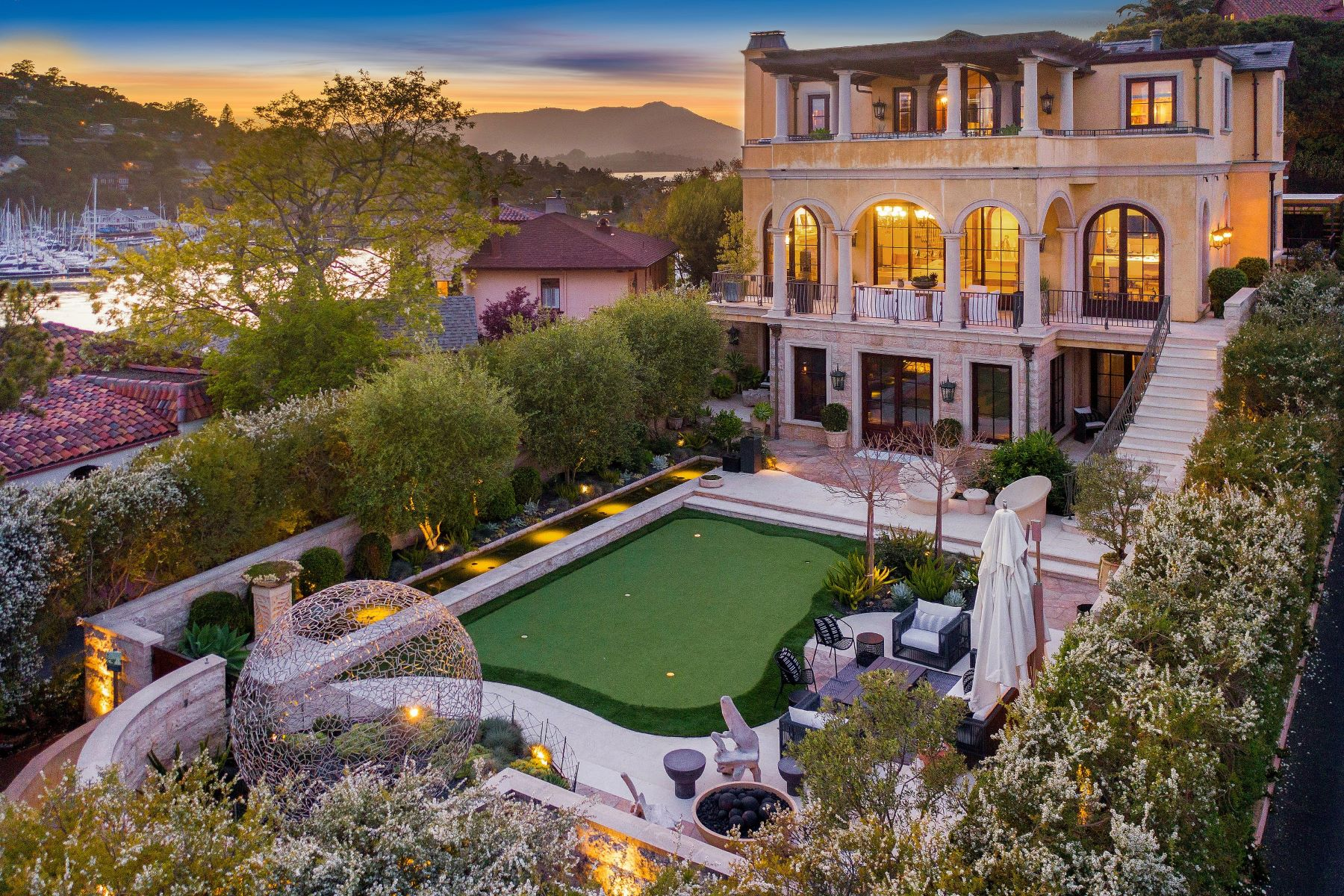 Single Family Homes for Sale at Corinthian Island's Icon 74 Bellevue Avenue Belvedere, California 94920 United States