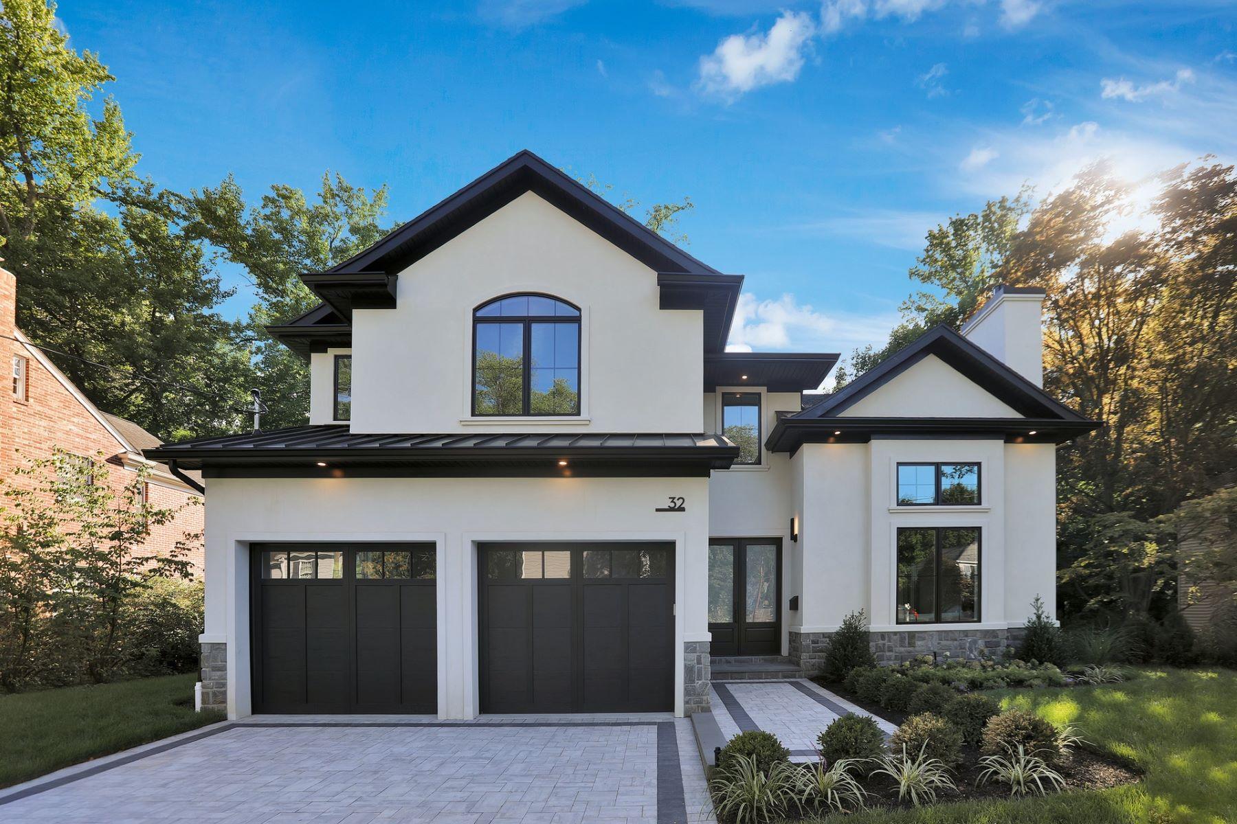 Single Family Homes 為 出售 在 Sleek and Modern 32 Howard Park Dr, Tenafly, 新澤西州 07670 美國