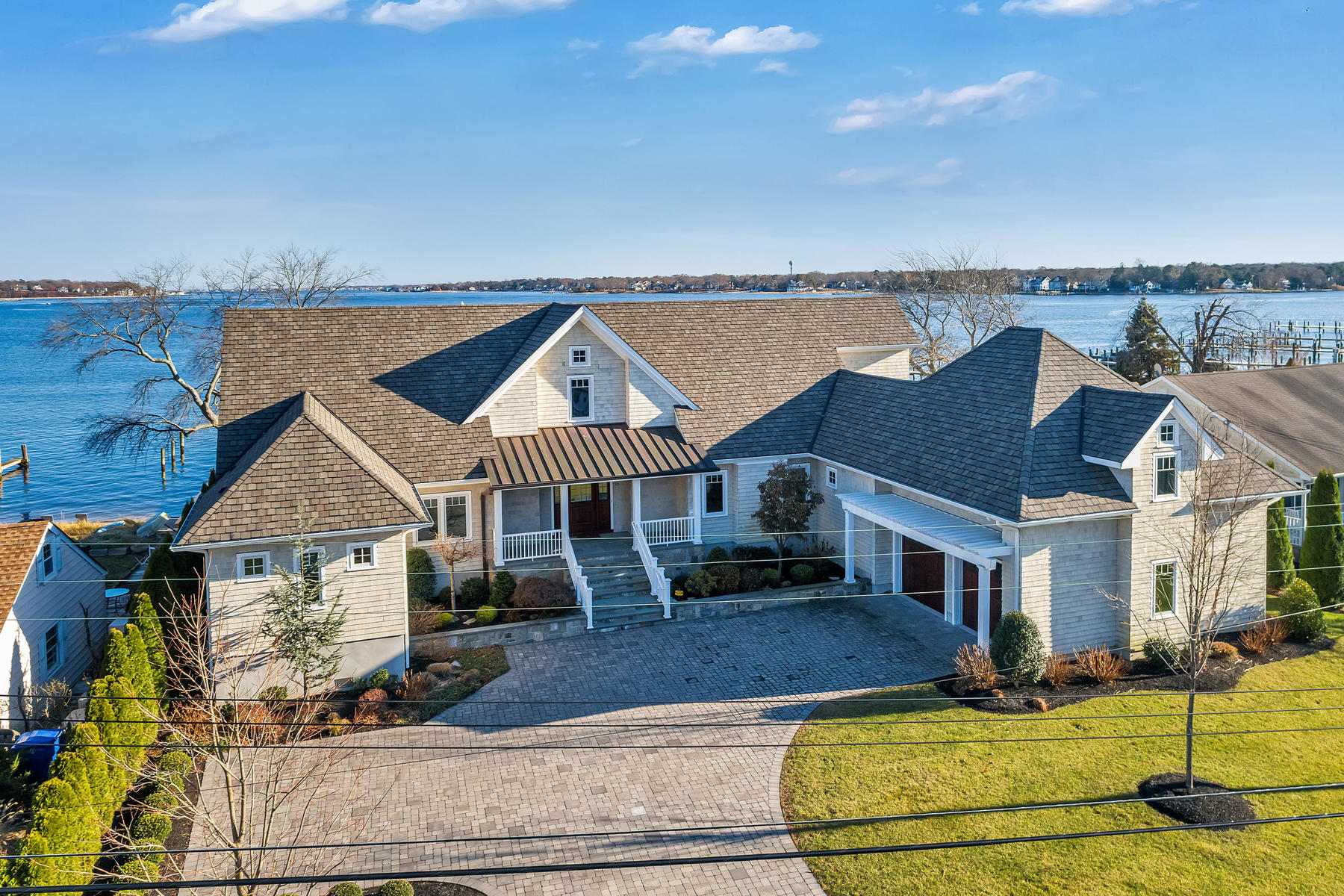 Single Family Homes for Sale at Custom Built Shore Cape Style Home 33 Haines Cove Drive, Toms River, New Jersey 08753 United States