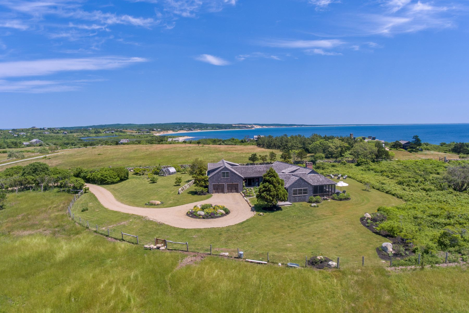 Single Family Homes για την Πώληση στο Exclusive Squibnocket Farm Waterview Estate 18 Spruce Gate Road, Chilmark, Μασαχουσετη 02535 Ηνωμένες Πολιτείες