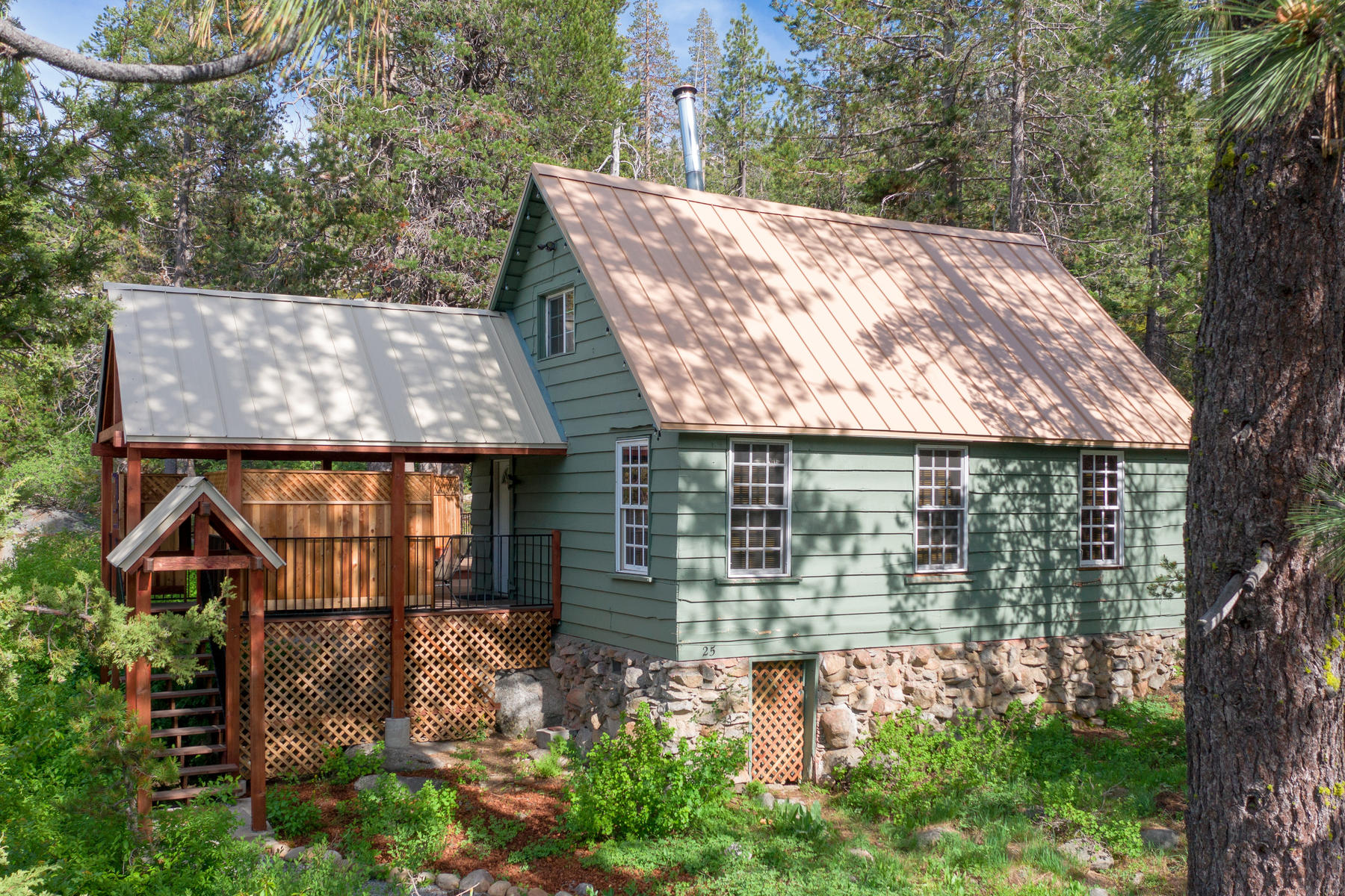 "Single Family Homes for Active at Quaint and cozy ""Old Tahoe"" cabin on the Yuba River 25 S Yuba Drive Soda Springs, California 95715 United States"