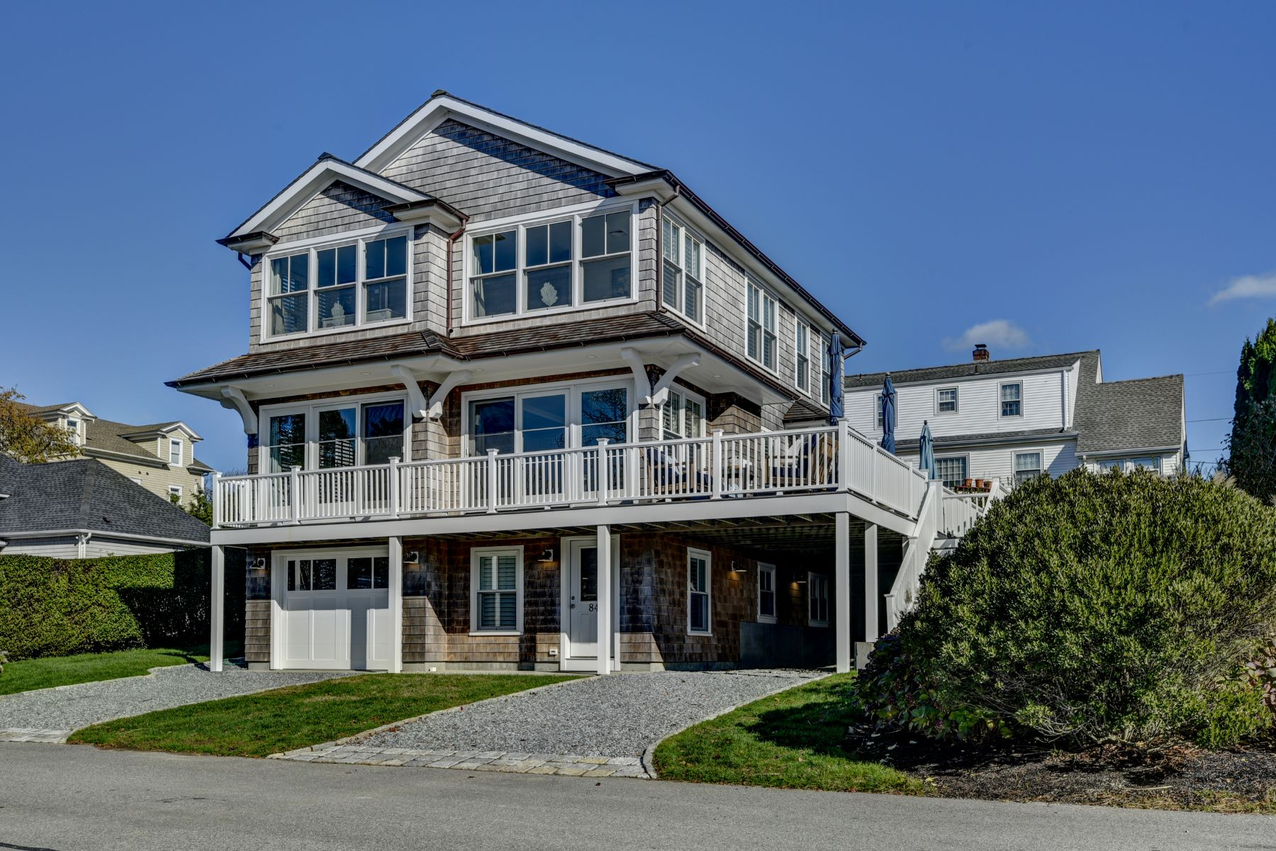 Single Family Homes for Sale at Stunning Ocean Views and Spectacular Sunsets 84 Shore Drive Middletown, Rhode Island 02842 United States