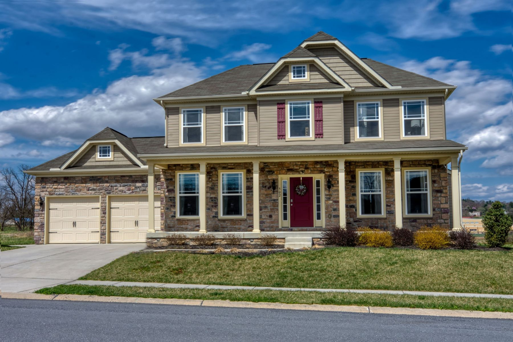 Single Family Homes للـ Sale في York County New Construction Colonial 7619-A Woodbine Road, Airville, Pennsylvania 17302 United States