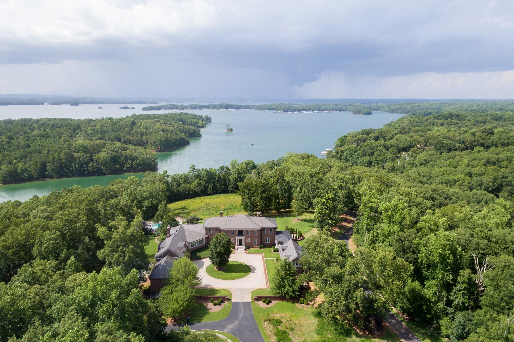 Single Family Homes للـ Sale في Commanding Residence Overlooking Lake Lanier 6531 Athletic Club Drive, Flowery Branch, Georgia 30542 United States