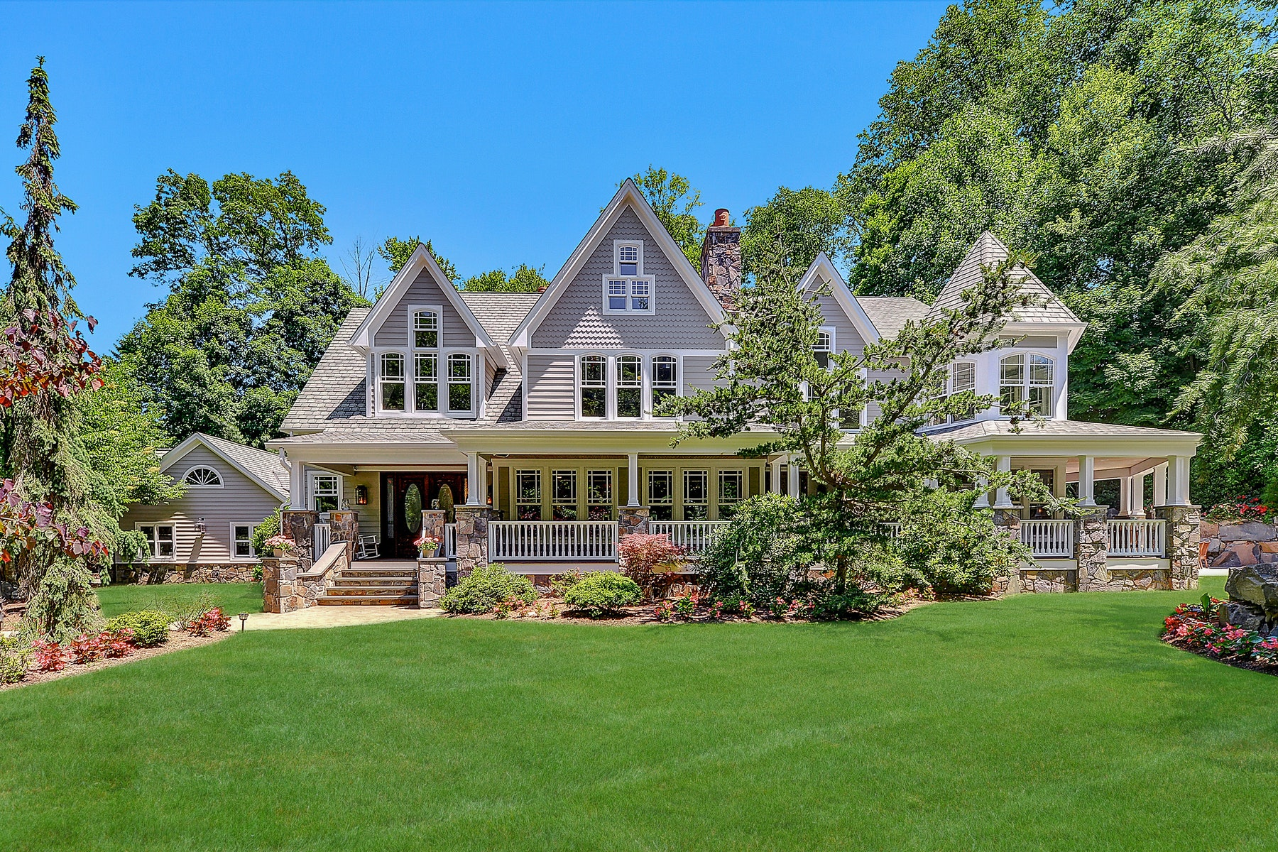 Single Family Homes for Sale at STUNNING COUNTRY FARMHOUSE 284 E Saddle River Rd., Upper Saddle River, New Jersey 07458 United States
