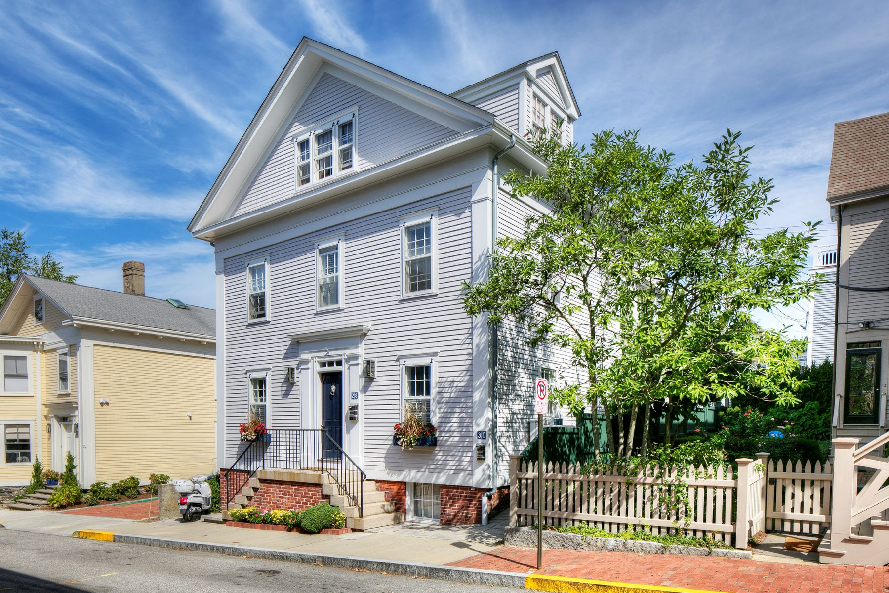 Single Family Homes for Sale at Greek Revival with Legal Apartment 28 30 John Street Newport, Rhode Island 02840 United States