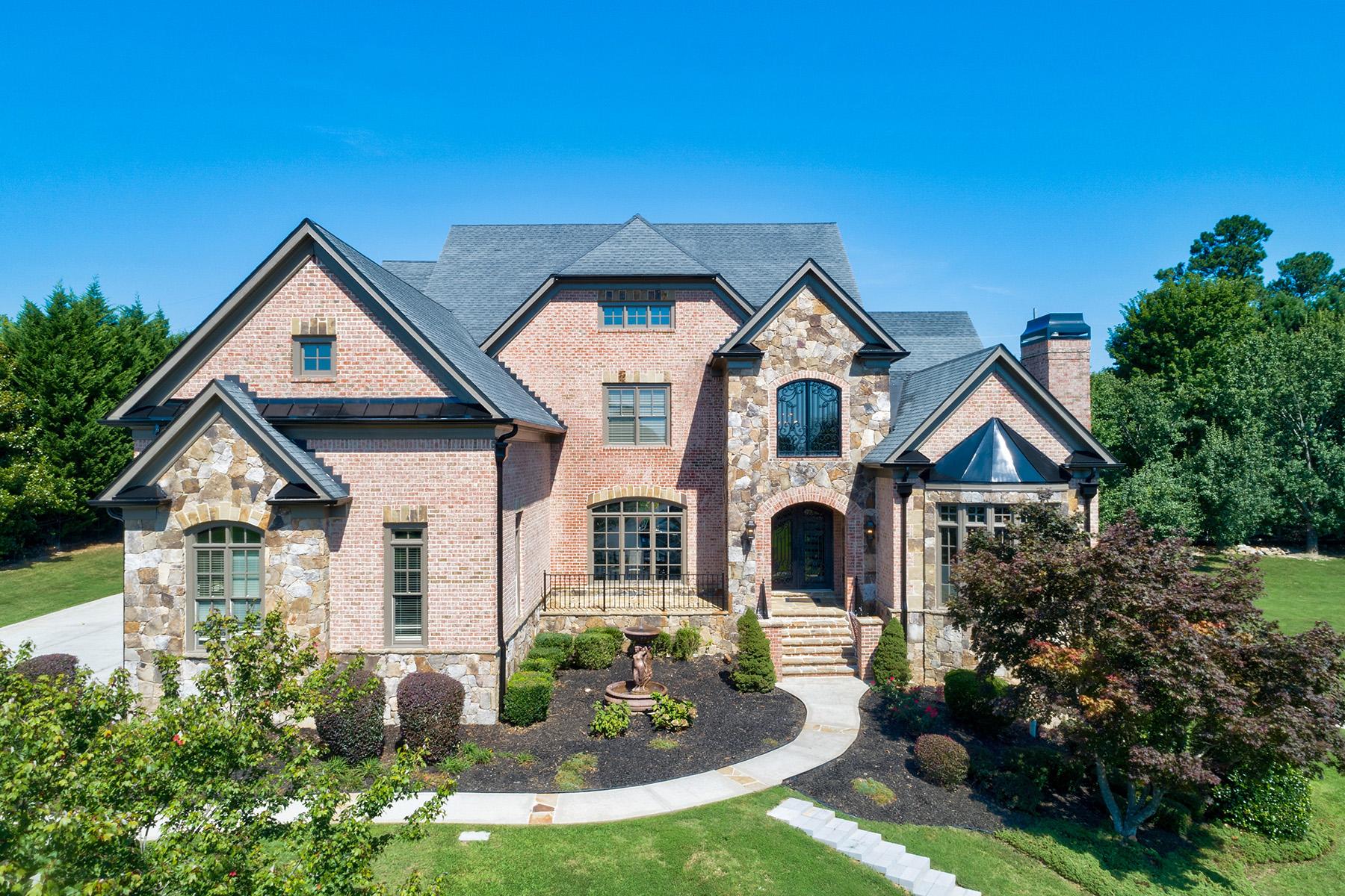 Single Family Homes por un Venta en Breath Taking Estate Home in Gated Community 2860 Drayton Hall Drive, Buford, Georgia 30519 Estados Unidos