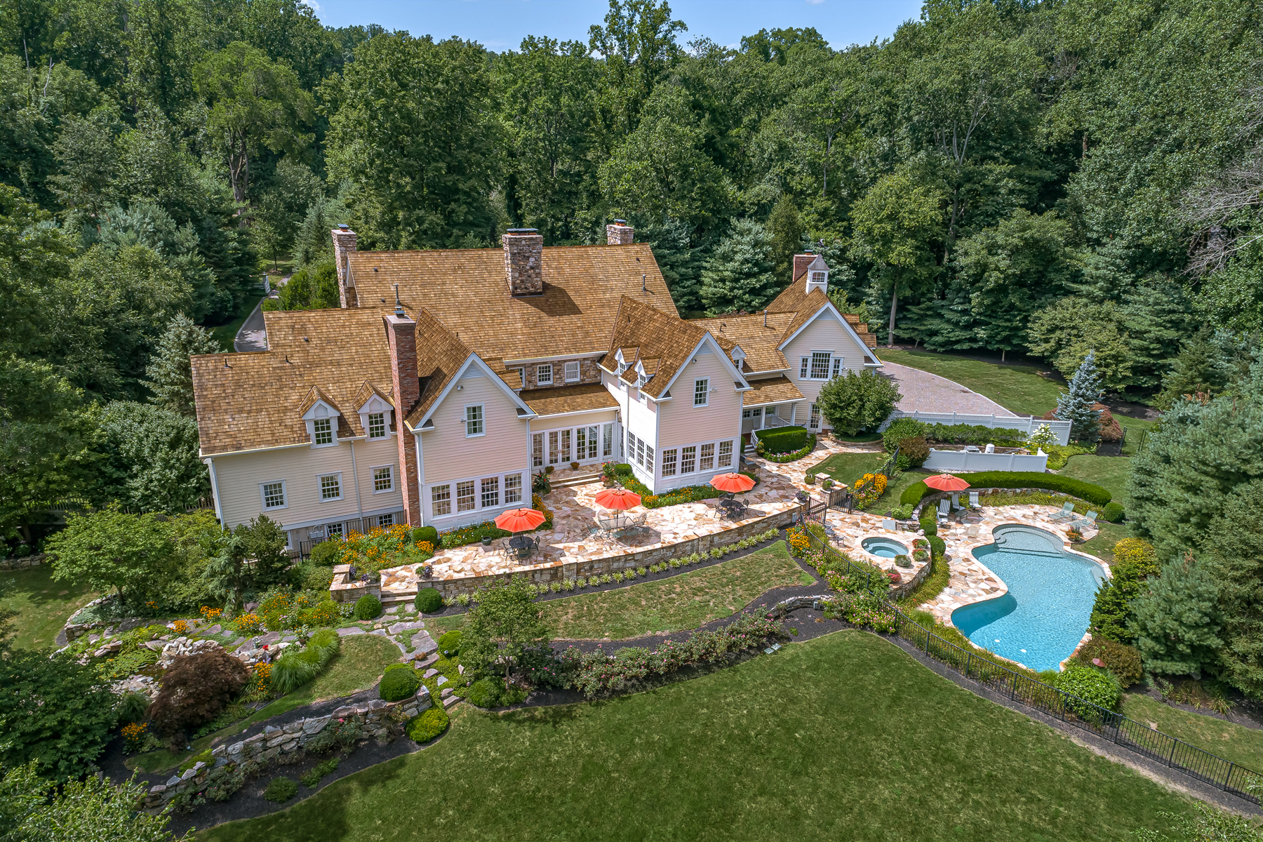 Single Family Homes для того Продажа на Exquisite New Vernon Estate 42 Kennedy Lane, Harding Township, Нью-Джерси 07976 Соединенные Штаты