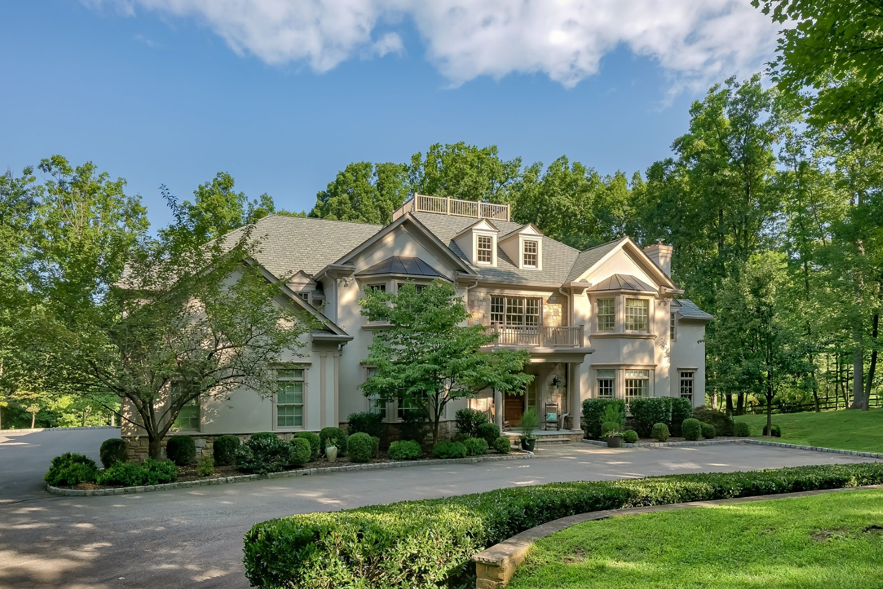 Single Family Homes for Sale at Exceptional Custom Colonial 151 Post Kennel Road, Bernardsville, New Jersey 07924 United States