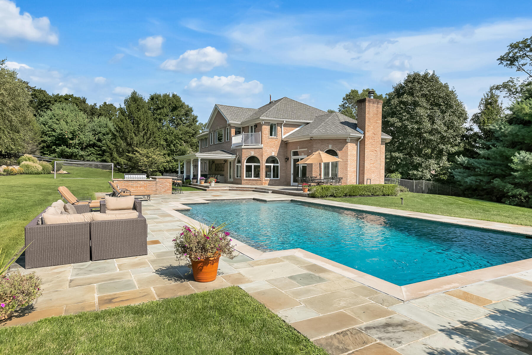 Single Family Homes for Sale at Extraordinary Custom Colonial 115 Clover Hill Road, Colts Neck, New Jersey 07722 United States