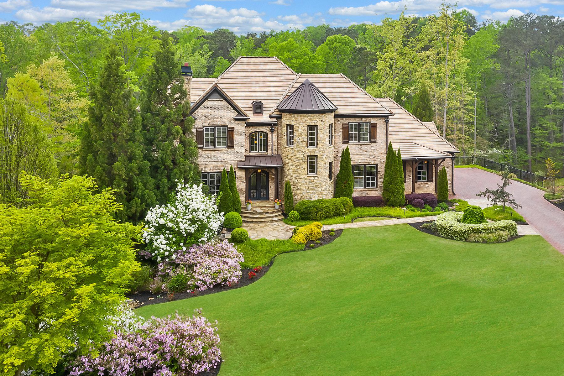 Single Family Homes per Vendita alle ore Stunning Executive Home in Gated Grand Estates 9720 Alma Viva Drive, Johns Creek, Georgia 30022 Stati Uniti
