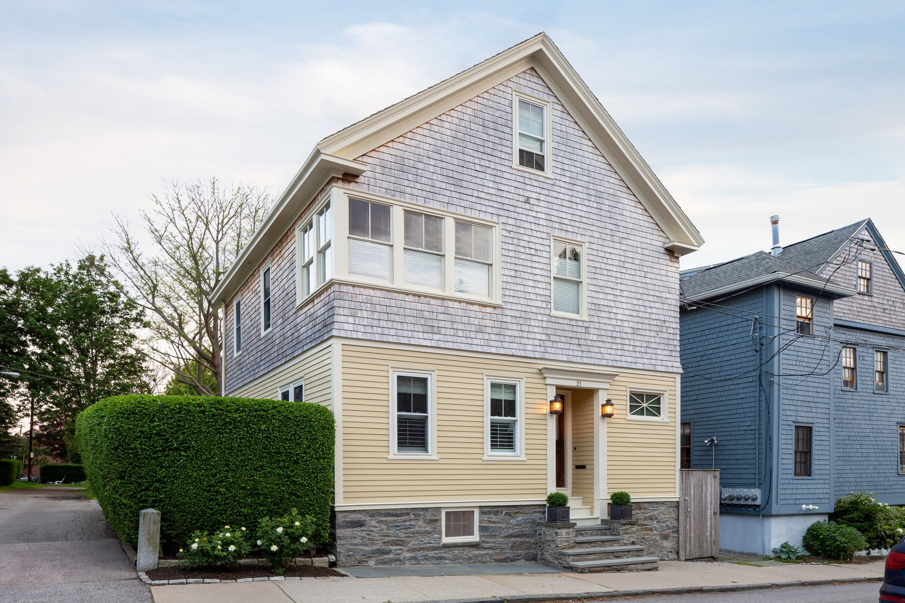 Single Family Homes for Sale at Renovated Cottage with 3-Car Garage on Double Lot 21 Sherman Street Newport, Rhode Island 02840 United States