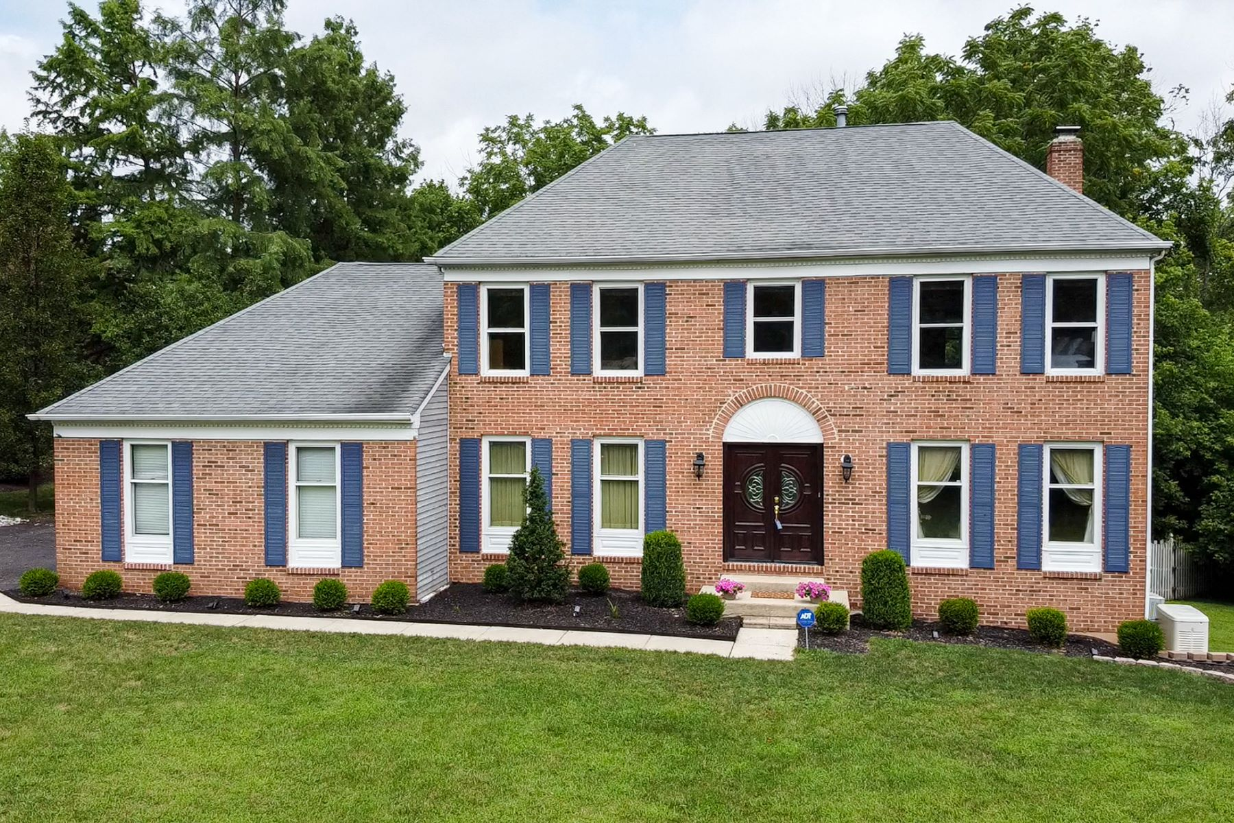 Single Family Homes for Sale at Classic Brick Front Colonial 8 Tamarack Drive, Branchburg, New Jersey 08853 United States