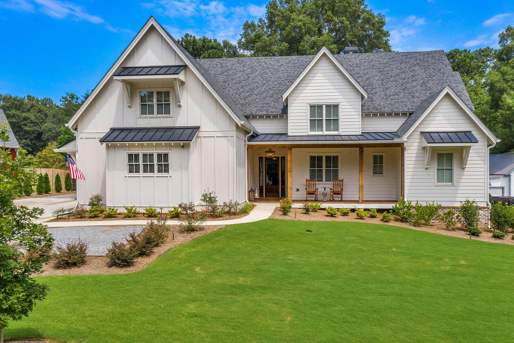 Single Family Homes por un Venta en Stunning Modern Farmhouse Near Downtown Alpharetta 289a Milton Avenue, Alpharetta, Georgia 30009 Estados Unidos