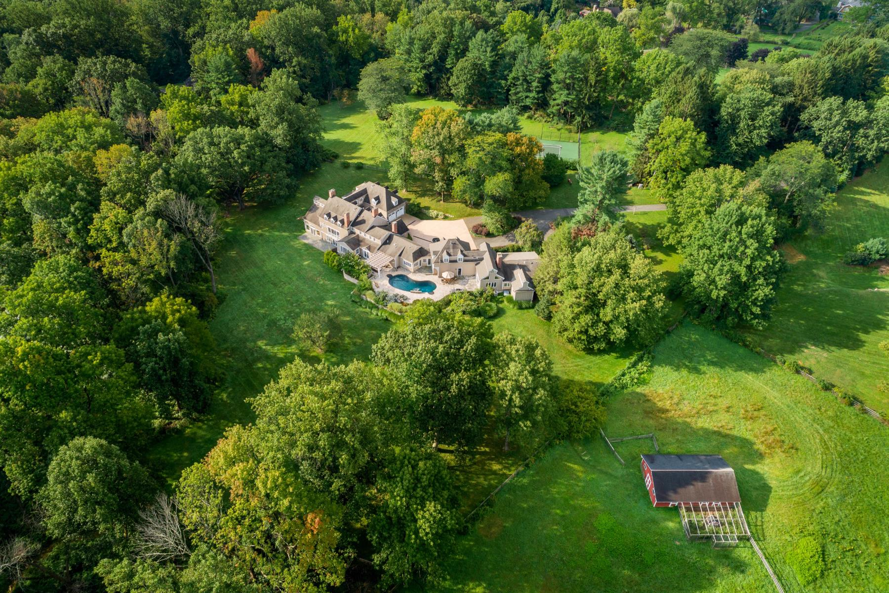Single Family Homes for Sale at Country Compound Atop Bernardsville Mountain 329 & 331 Mendham Road, Bernardsville, New Jersey 07924 United States