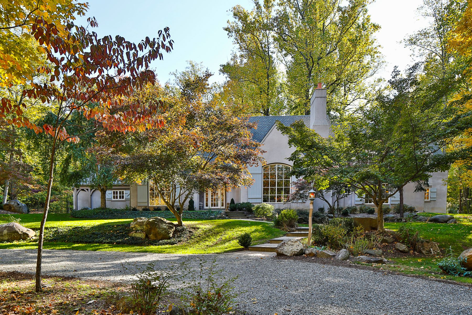 Single Family Homes for Sale at Romantic, Wooded Views and Sophisticated Style 316 Cherry Valley Road, Princeton, New Jersey 08540 United States
