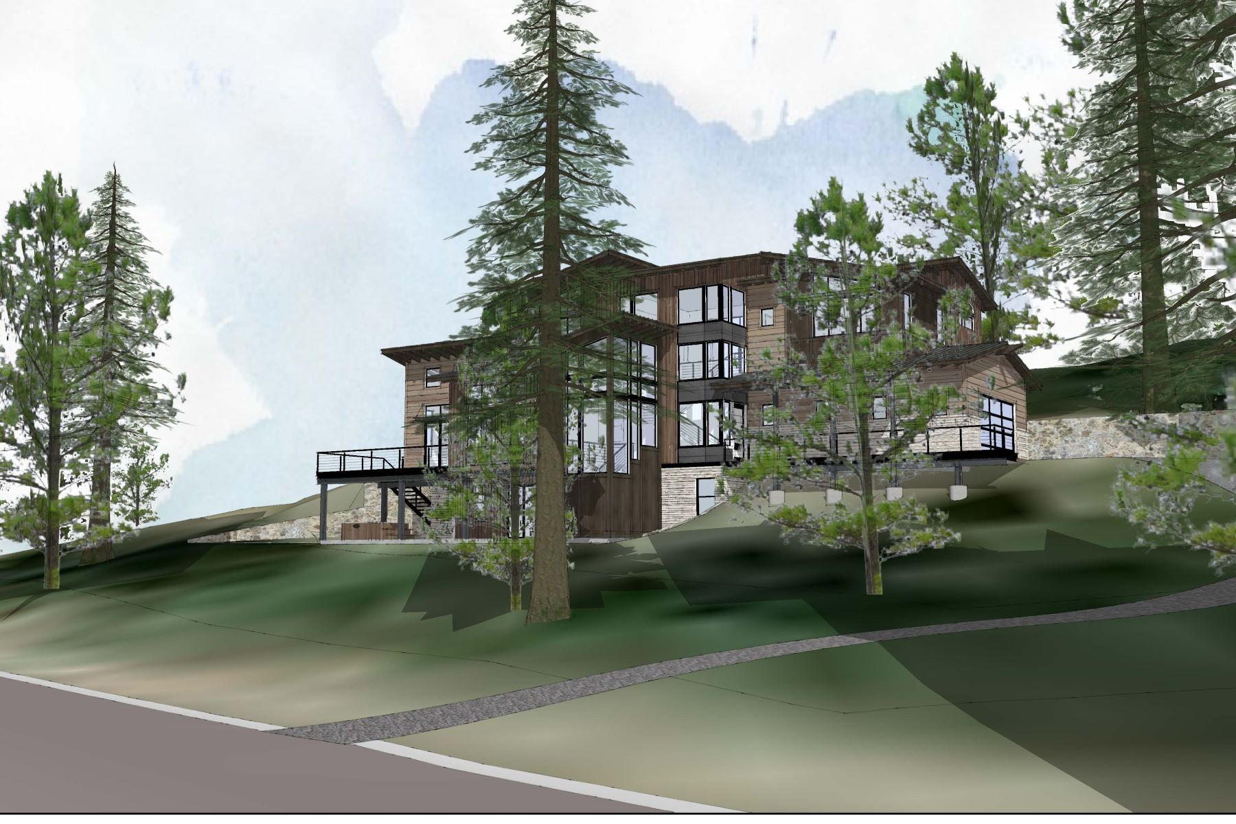 Property 为 销售 在 Stunning Luxury Lake View Home 6417 North Lake Boulevard 塔霍湖, 加利福尼亚州 96148 美国