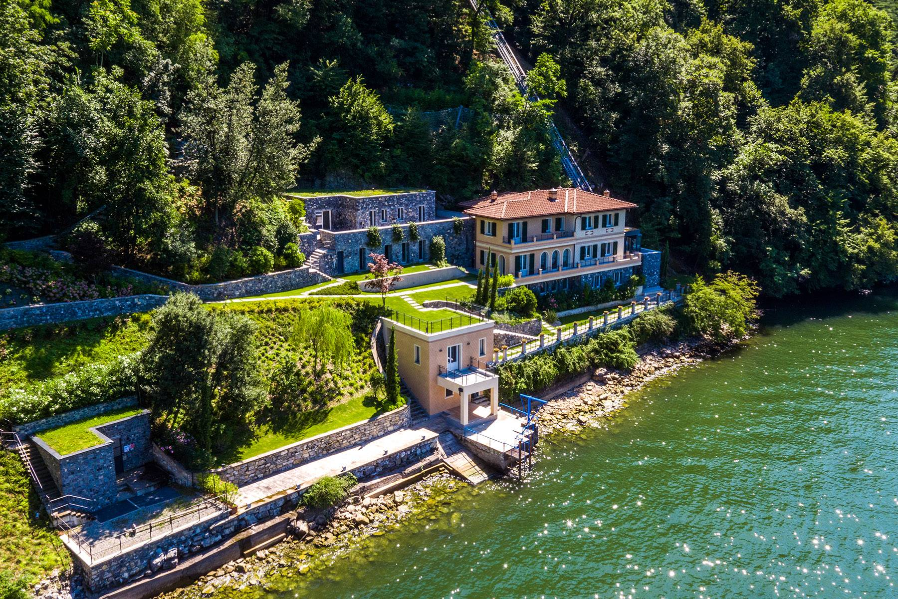Property for Sale at Fascinating villa in one of the most strategic areas of the lake Blevio, Como Italy