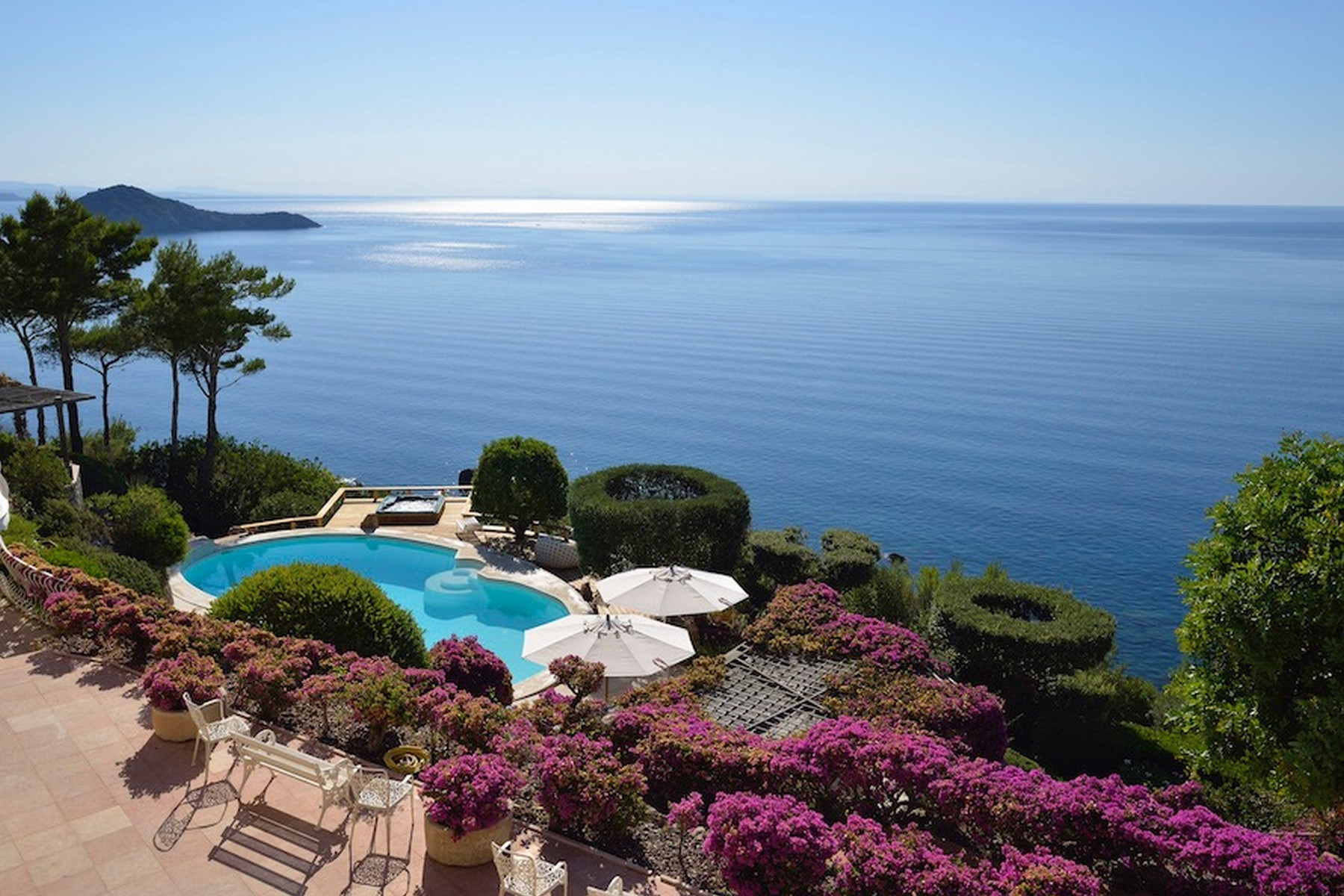 Other Residential Homes for Sale at Incredible villa overlooking the sea in Porto Ercole Monte Argentario, Grosseto Italy