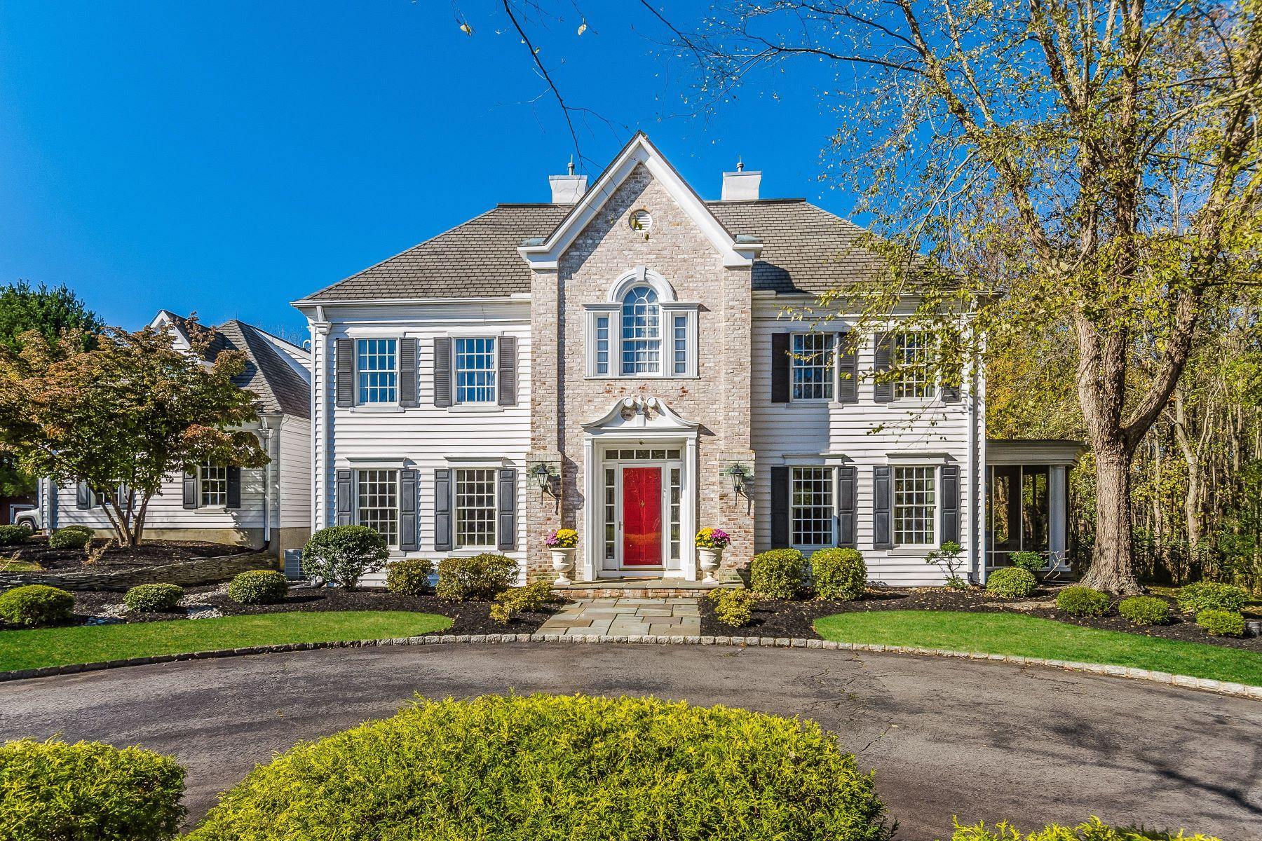 Single Family Homes vì Bán tại In Hamilton: Wooded, Grand, and Gracious 4 Hidden Hollow Drive, Hamilton, New Jersey 08620 Hoa Kỳ