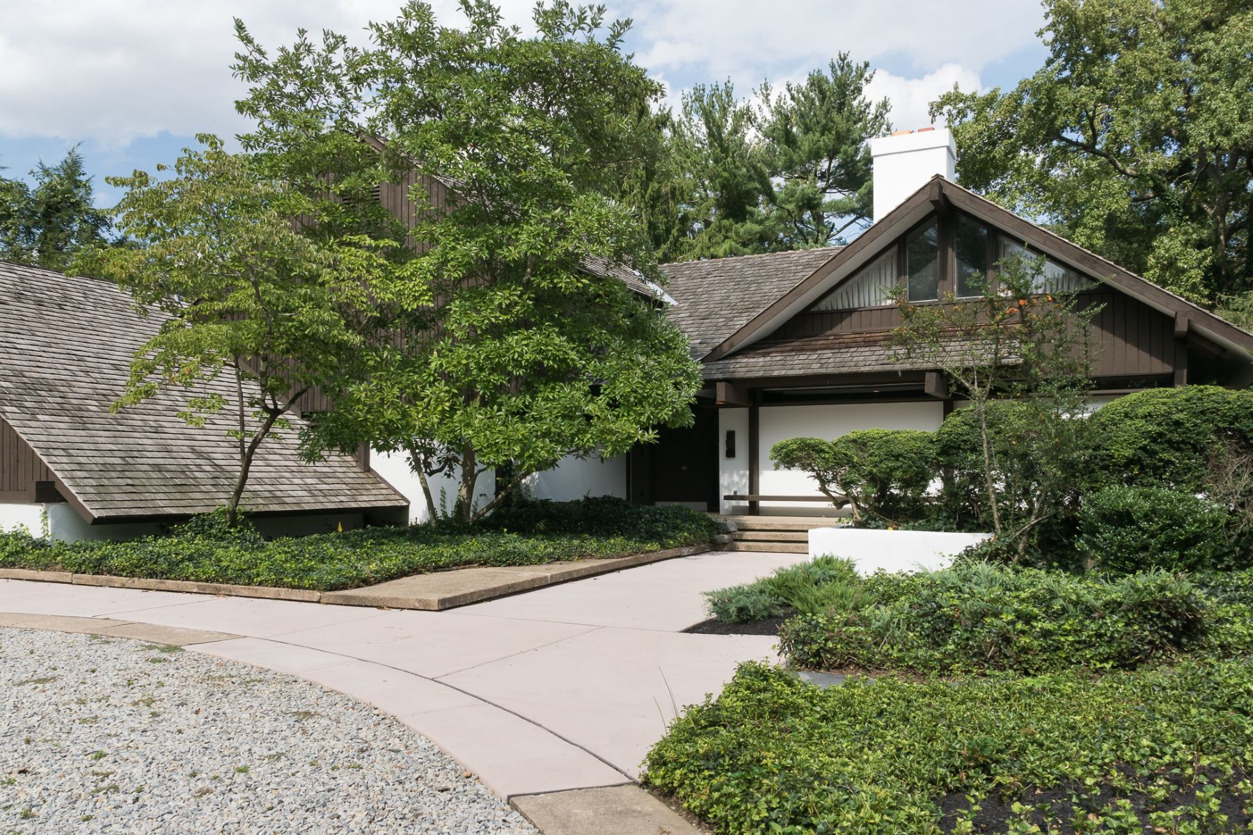 Single Family Homes 용 매매 에 Mid-Century Modern Designed by Malcolm Wells 845 Golf View Road, Moorestown, 뉴저지 08057 미국