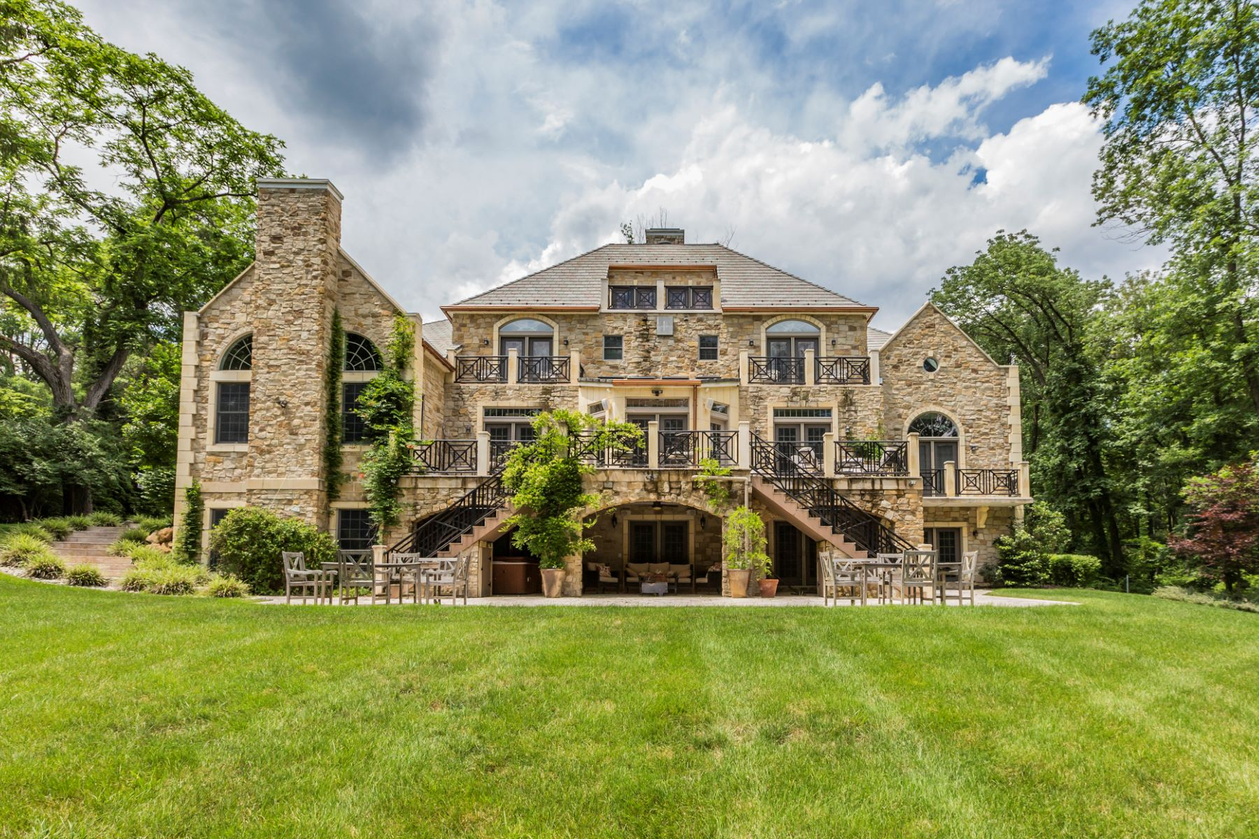 Single Family Homes for Sale at Classic Princeton Estate on Three Acres 218 Drakes Corner Road, Princeton, New Jersey 08540 United States