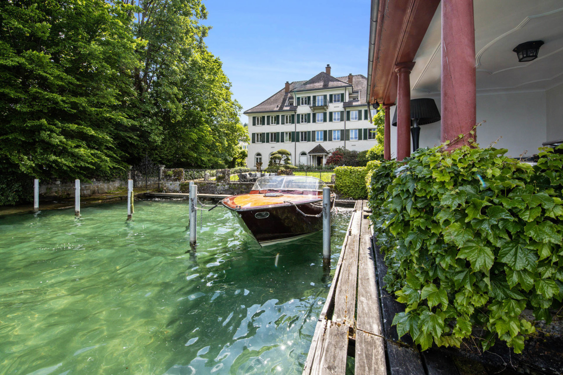 Single Family Homes for Sale at Historic villa with a private shore Wädenswil Wadenswil, Zurich 8820 Switzerland